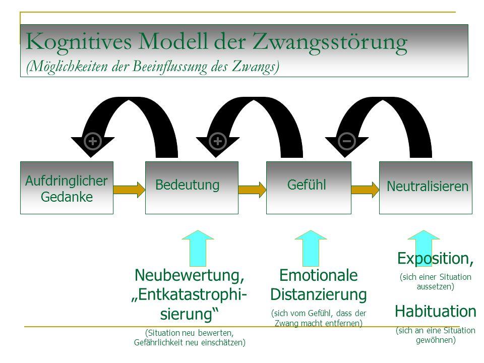 Kognitives Modell der Zwangsstörung (Möglichkeiten der Beeinflussung des Zwangs)