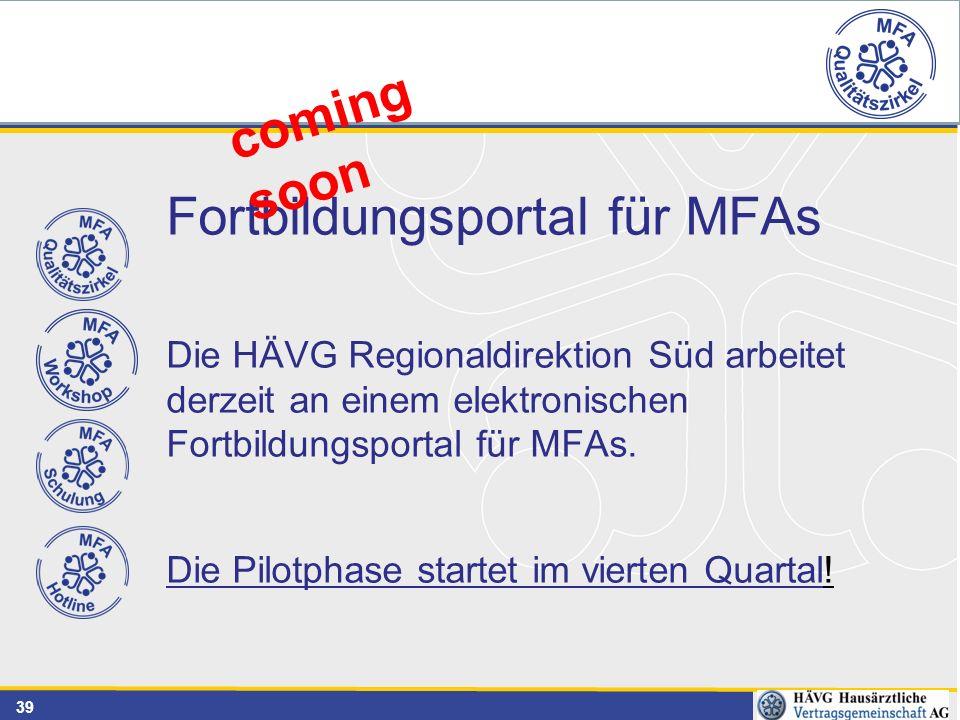 Fortbildungsportal für MFAs