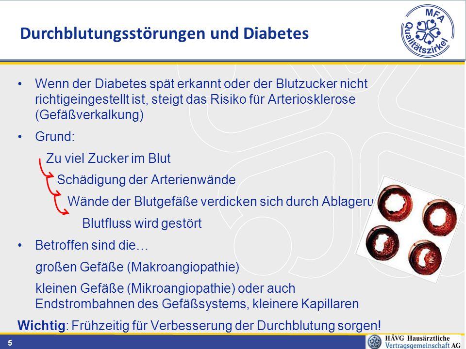 Durchblutungsstörungen und Diabetes