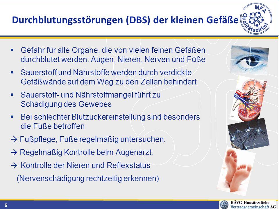 Durchblutungsstörungen (DBS) der kleinen Gefäße