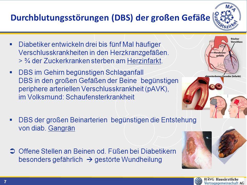 Durchblutungsstörungen (DBS) der großen Gefäße