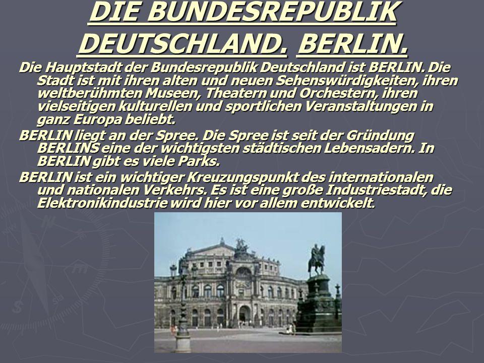 DIE BUNDESREPUBLIK DEUTSCHLAND. BERLIN.