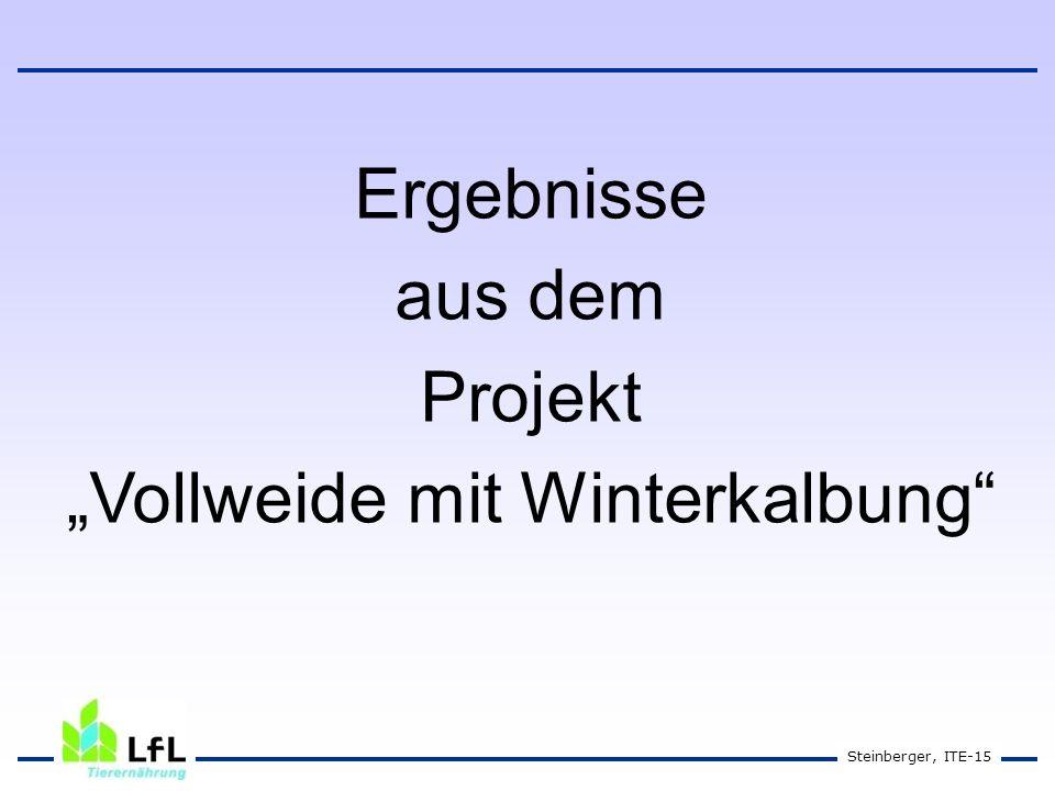 """Vollweide mit Winterkalbung"