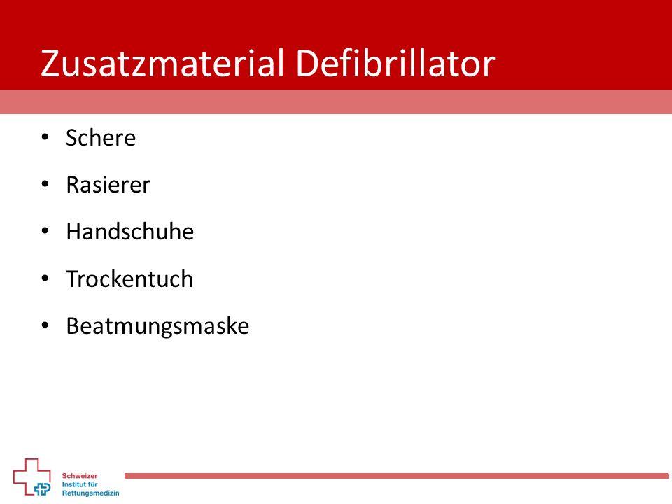 Zusatzmaterial Defibrillator