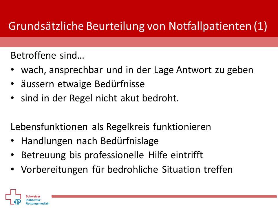 Grundsätzliche Beurteilung von Notfallpatienten (1)