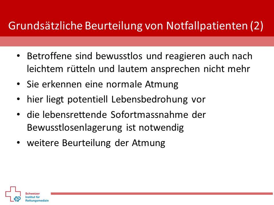Grundsätzliche Beurteilung von Notfallpatienten (2)
