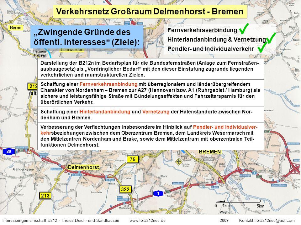 Verkehrsnetz Großraum Delmenhorst - Bremen