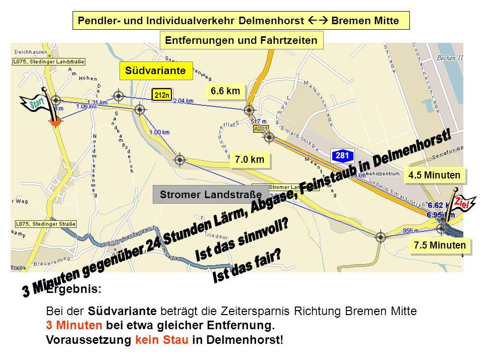 Pendler- und Individualverkehr Delmenhorst  Bremen Mitte