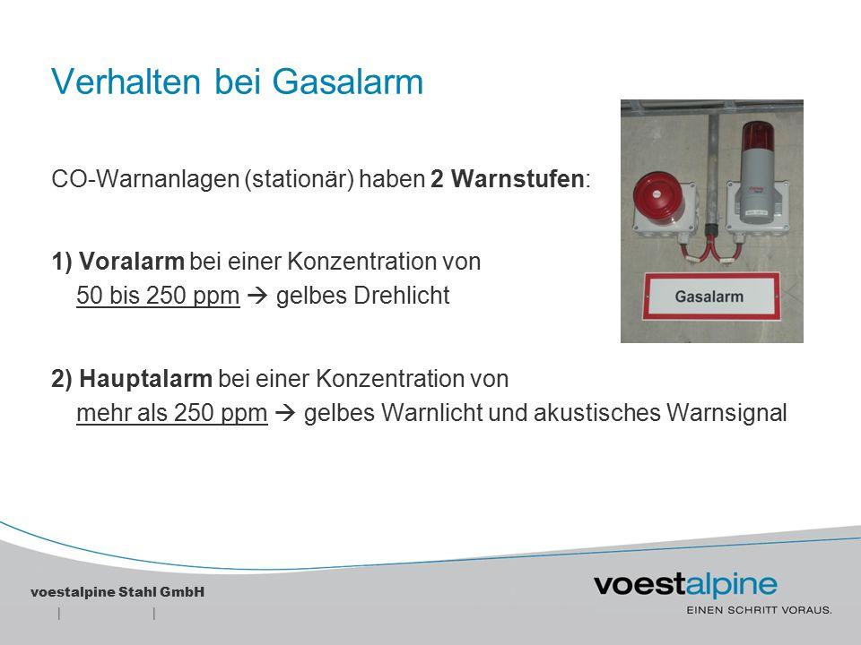 Verhalten bei Gasalarm