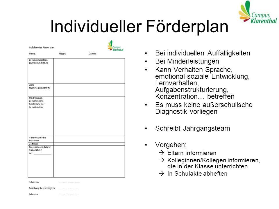 Individueller Förderplan