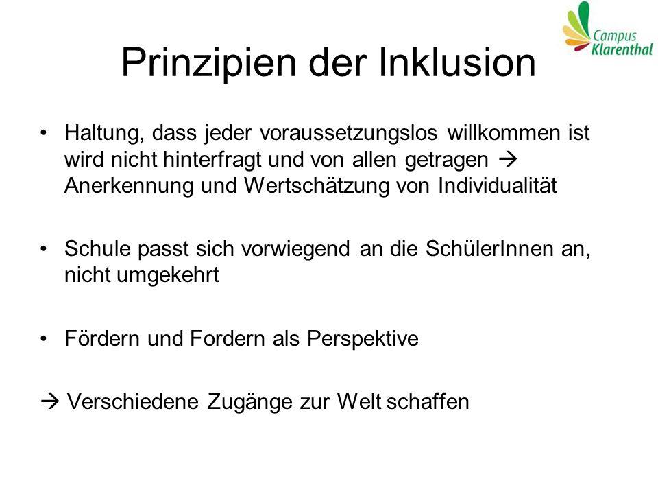 Prinzipien der Inklusion