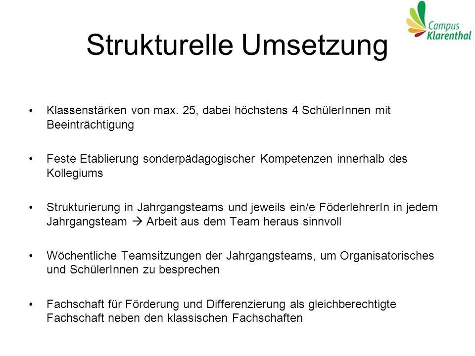 Strukturelle Umsetzung