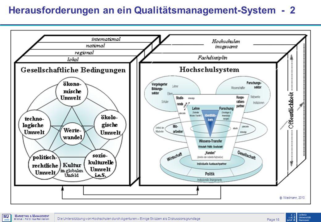 Herausforderungen an ein Qualitätsmanagement-System - 2