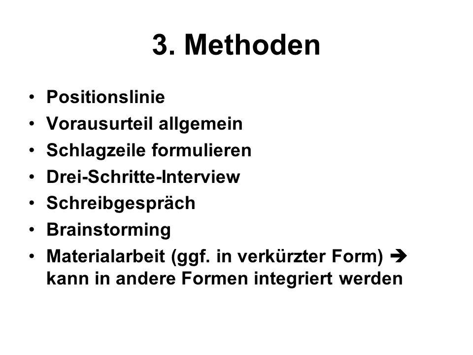 3. Methoden Positionslinie Vorausurteil allgemein