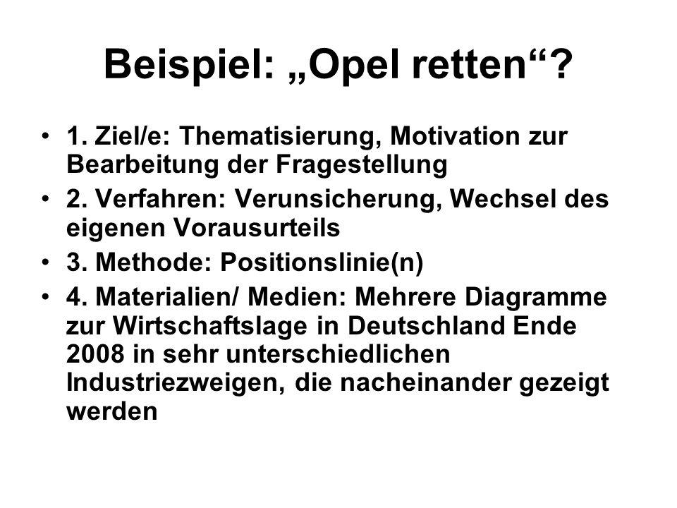 """Beispiel: """"Opel retten"""