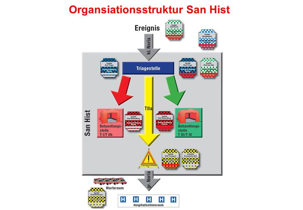 Organsiationsstruktur San Hist