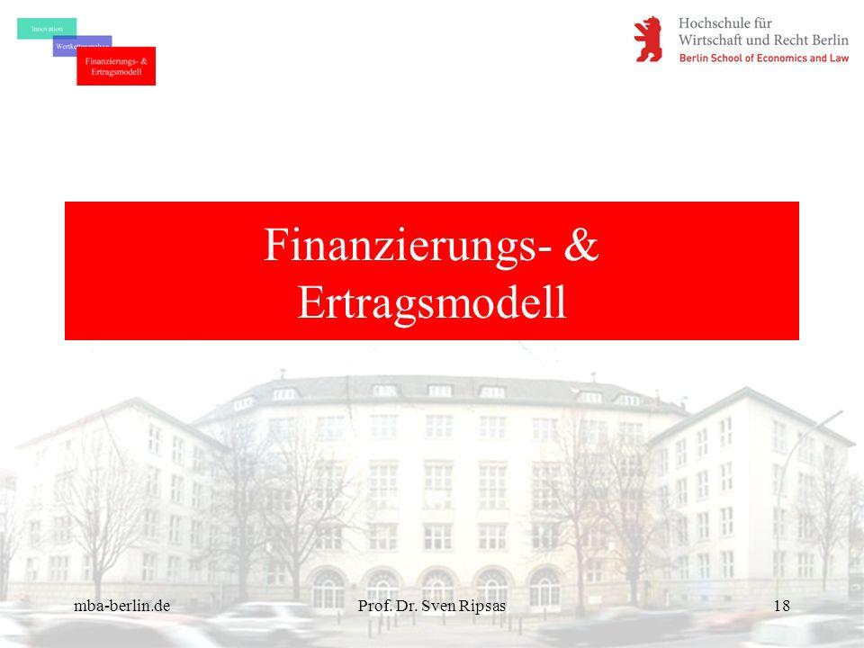 Finanzierungs- & Ertragsmodell
