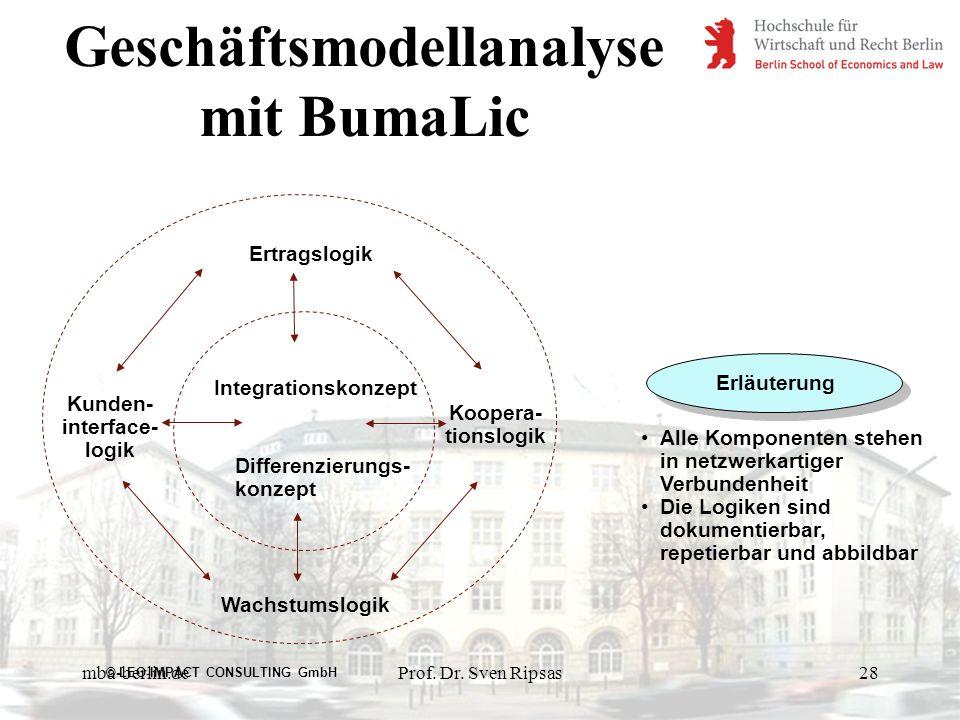 Geschäftsmodellanalyse mit BumaLic
