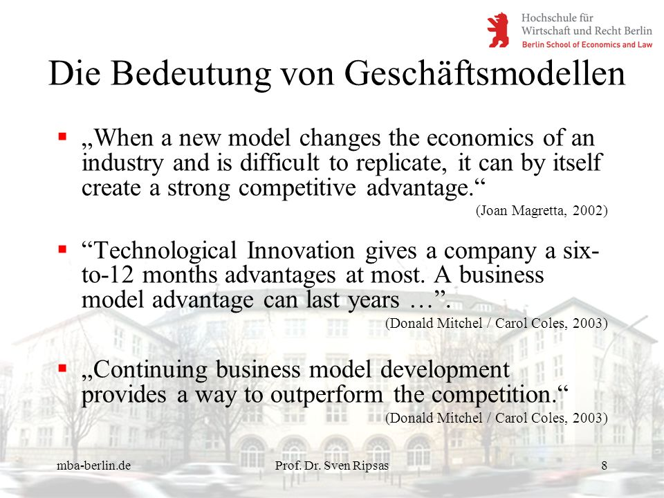 Die Bedeutung von Geschäftsmodellen