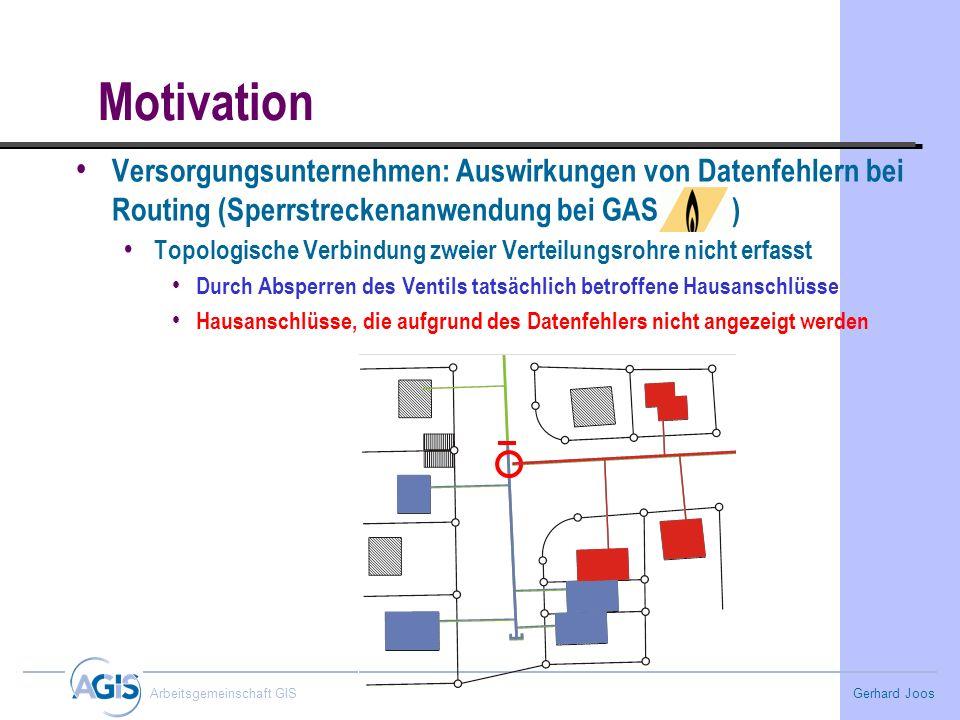MotivationVersorgungsunternehmen: Auswirkungen von Datenfehlern bei Routing (Sperrstreckenanwendung bei GAS )