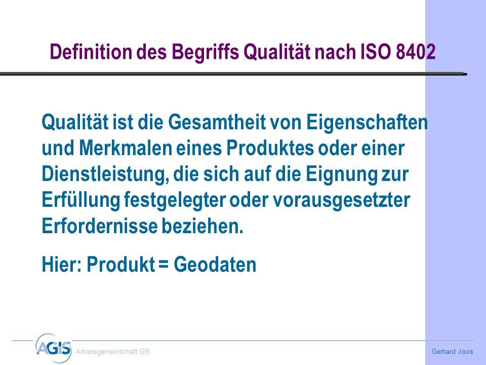 Definition des Begriffs Qualität nach ISO 8402