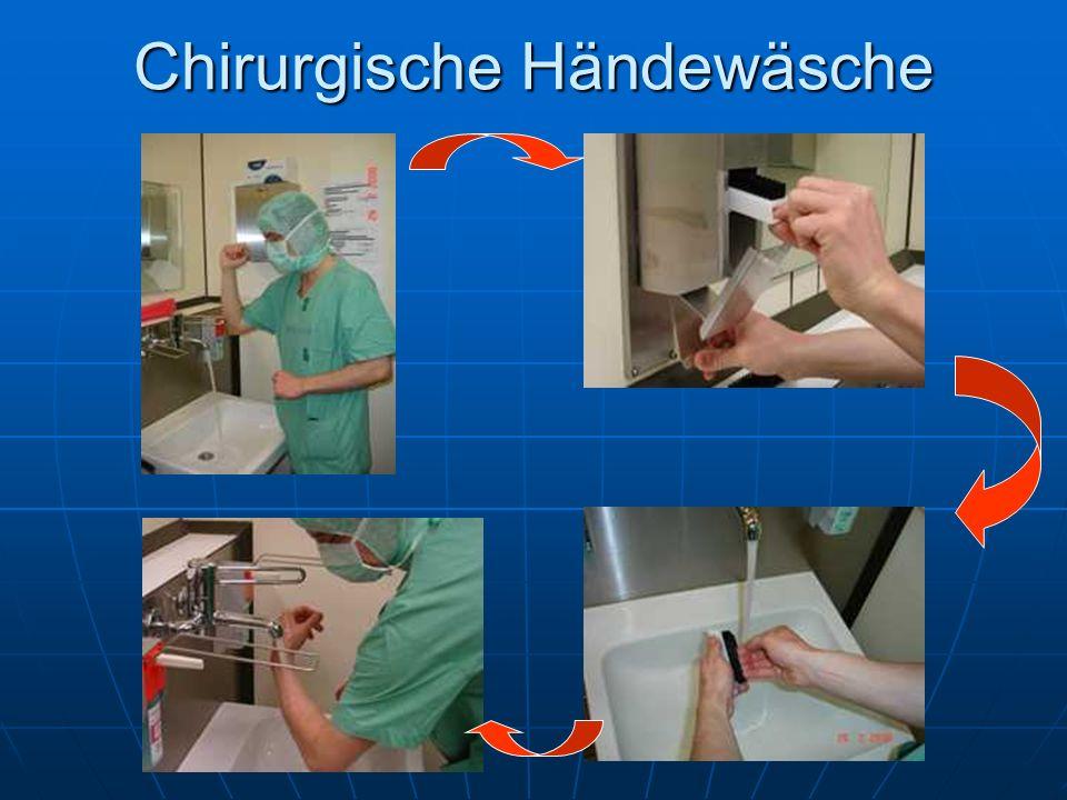 Chirurgische Händewäsche