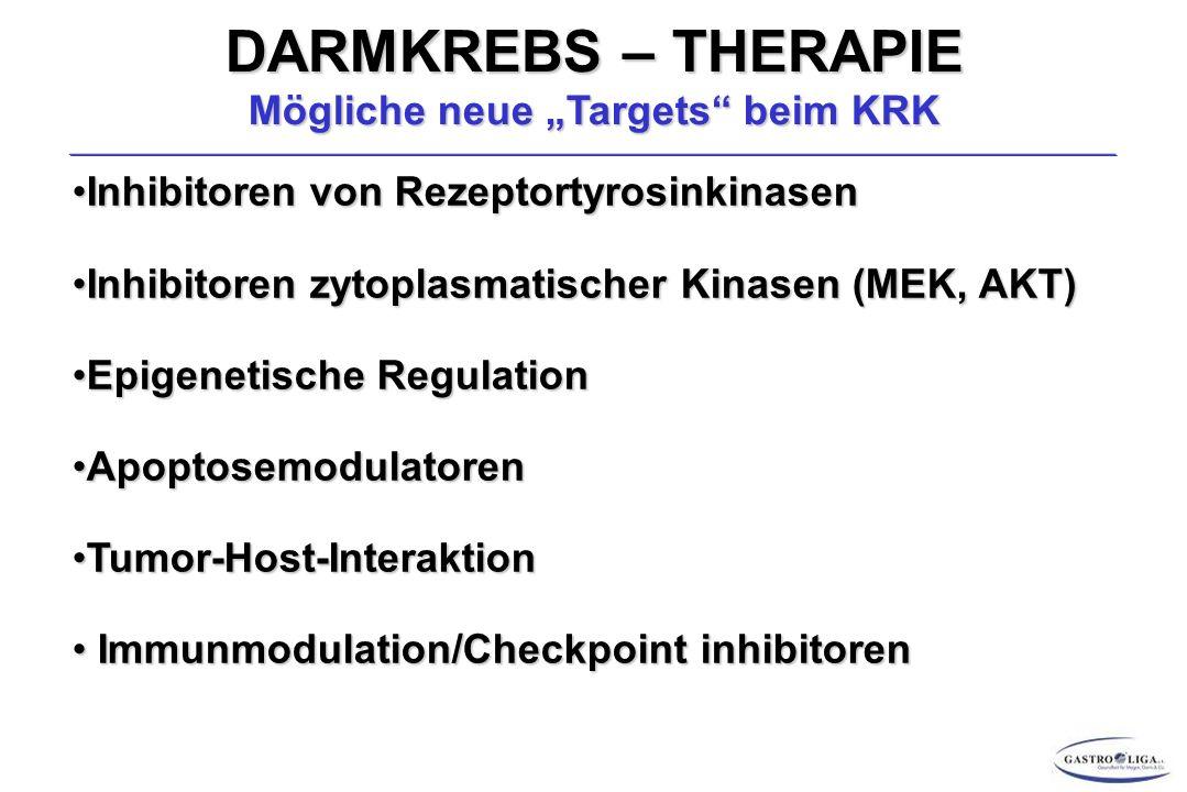 """DARMKREBS – THERAPIE Mögliche neue """"Targets beim KRK"""