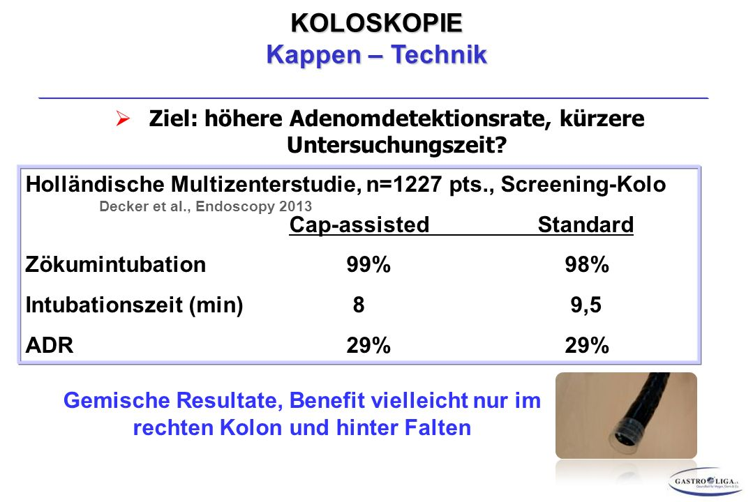 Ziel: höhere Adenomdetektionsrate, kürzere Untersuchungszeit