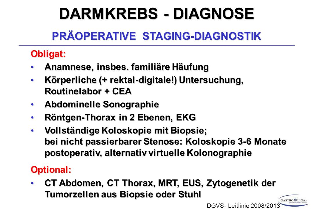 PRÄOPERATIVE STAGING-DIAGNOSTIK