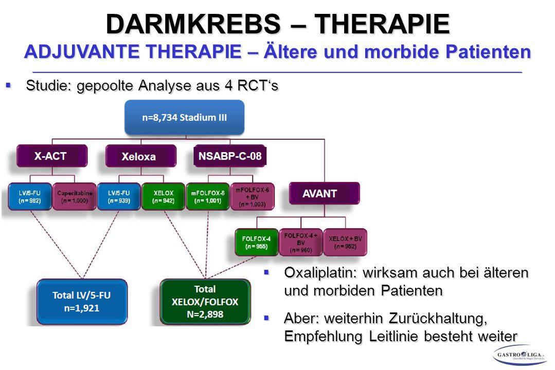 DARMKREBS – THERAPIE ADJUVANTE THERAPIE – Ältere und morbide Patienten