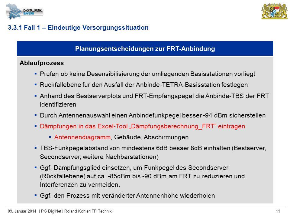 Planungsentscheidungen zur FRT-Anbindung