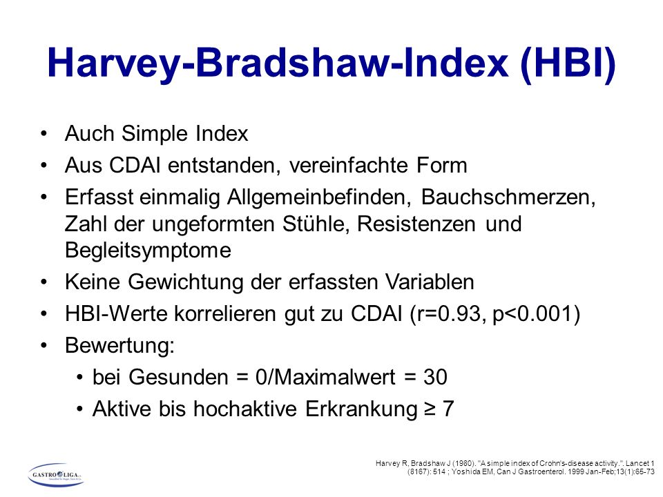 Harvey-Bradshaw-Index (HBI)
