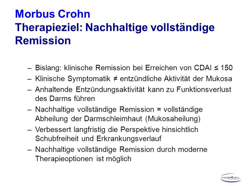 Morbus Crohn Therapieziel: Nachhaltige vollständige Remission
