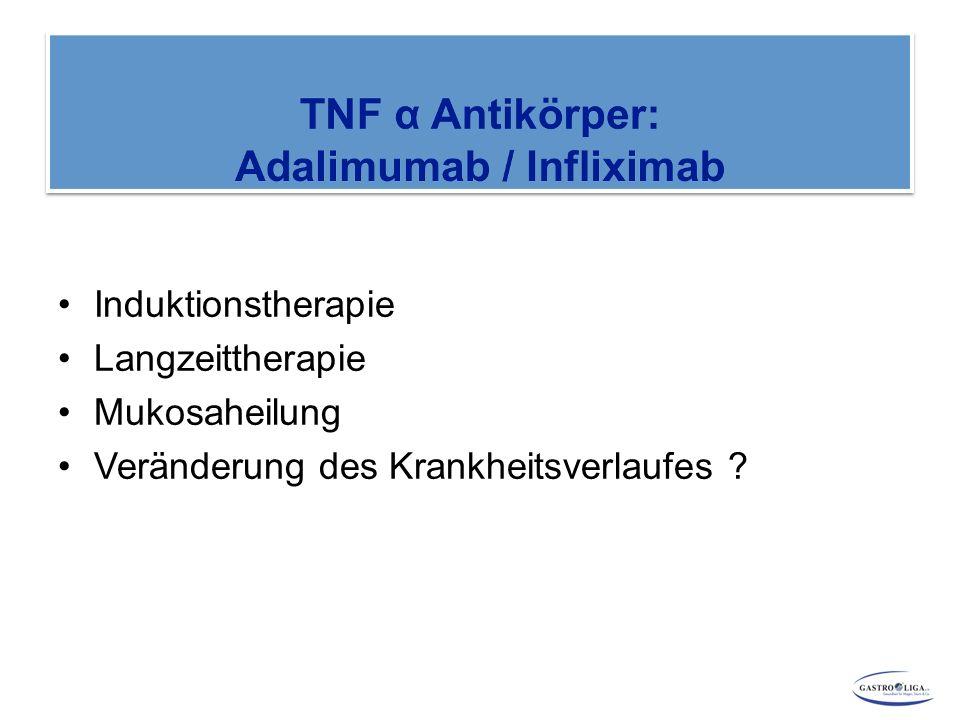 Induktionstherapie Langzeittherapie Mukosaheilung Veränderung des Krankheitsverlaufes