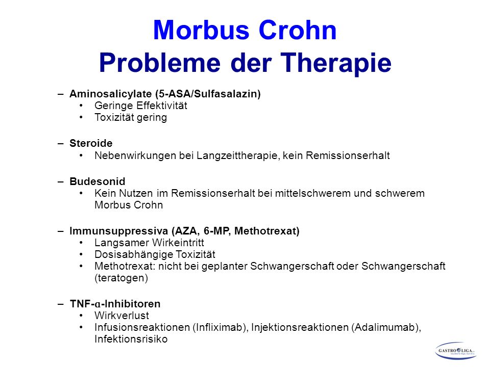 Morbus Crohn Probleme der Therapie