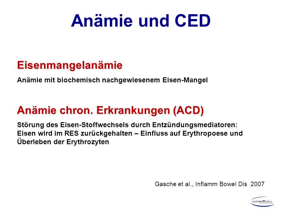 Anämie und CED Eisenmangelanämie Anämie chron. Erkrankungen (ACD)