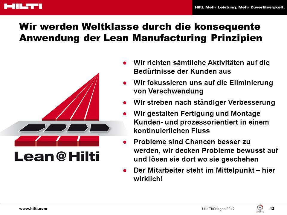 Wir werden Weltklasse durch die konsequente Anwendung der Lean Manufacturing Prinzipien