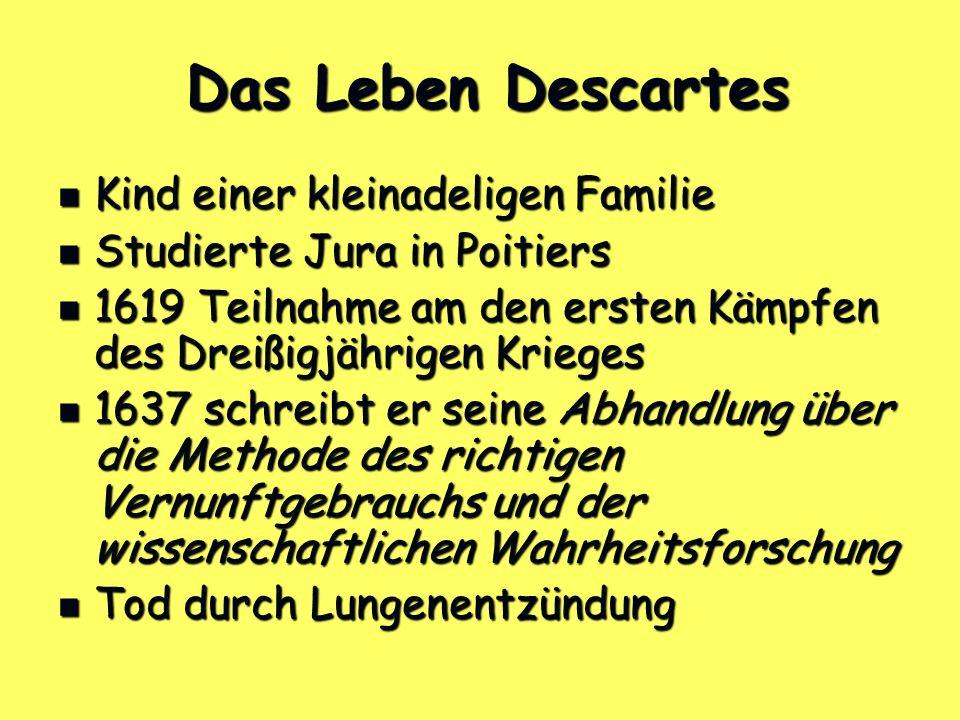 Das Leben Descartes Kind einer kleinadeligen Familie