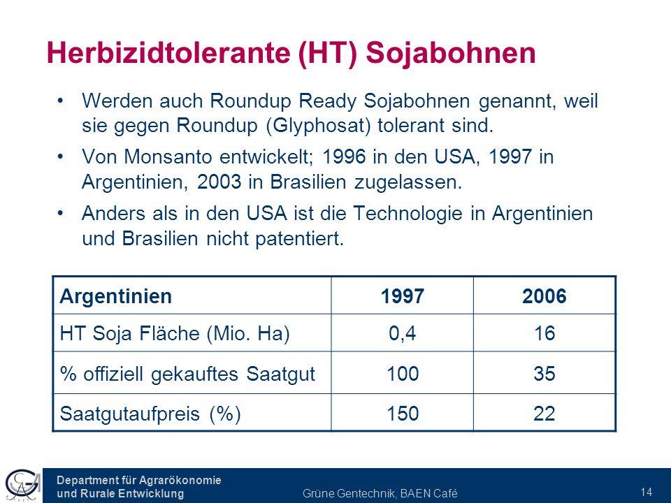 Herbizidtolerante (HT) Sojabohnen