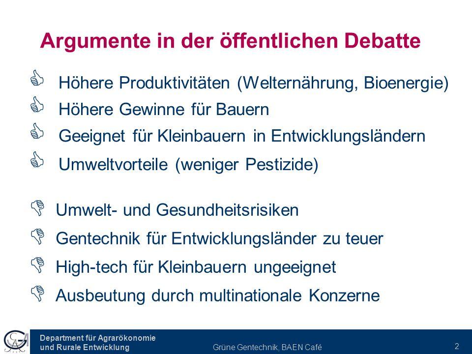 Argumente in der öffentlichen Debatte