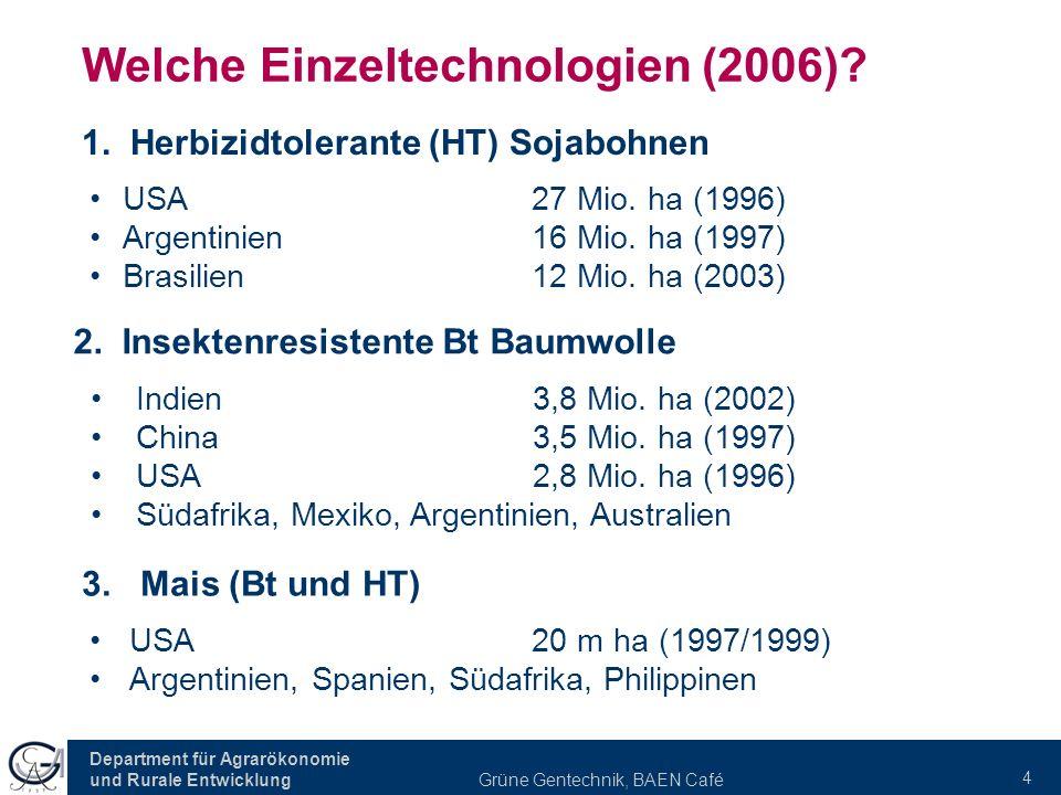 Welche Einzeltechnologien (2006)