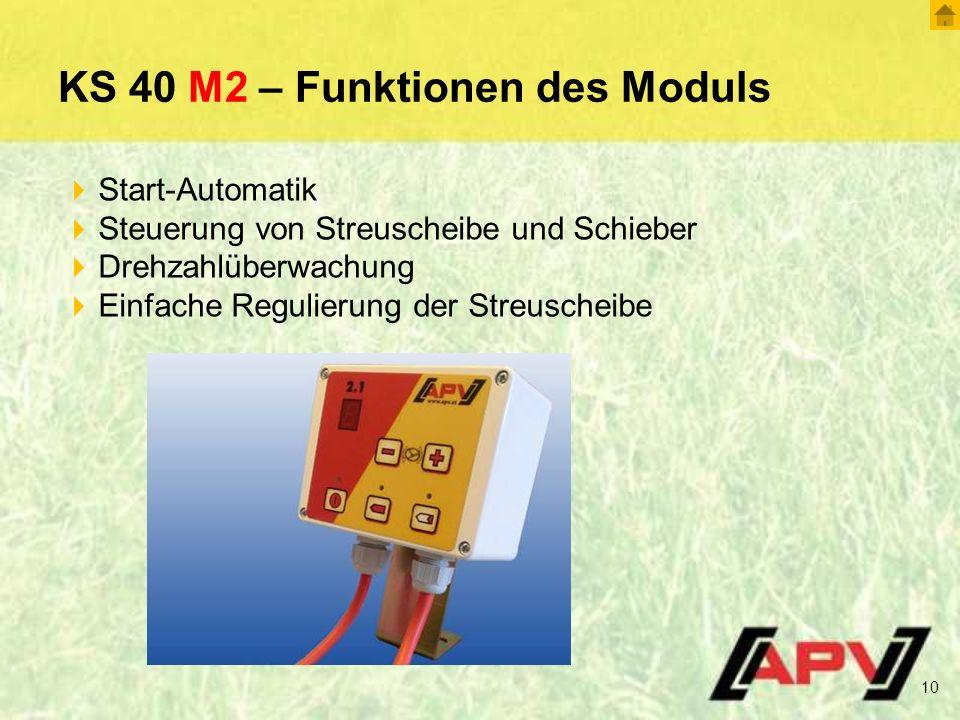 KS 40 M2 – Funktionen des Moduls