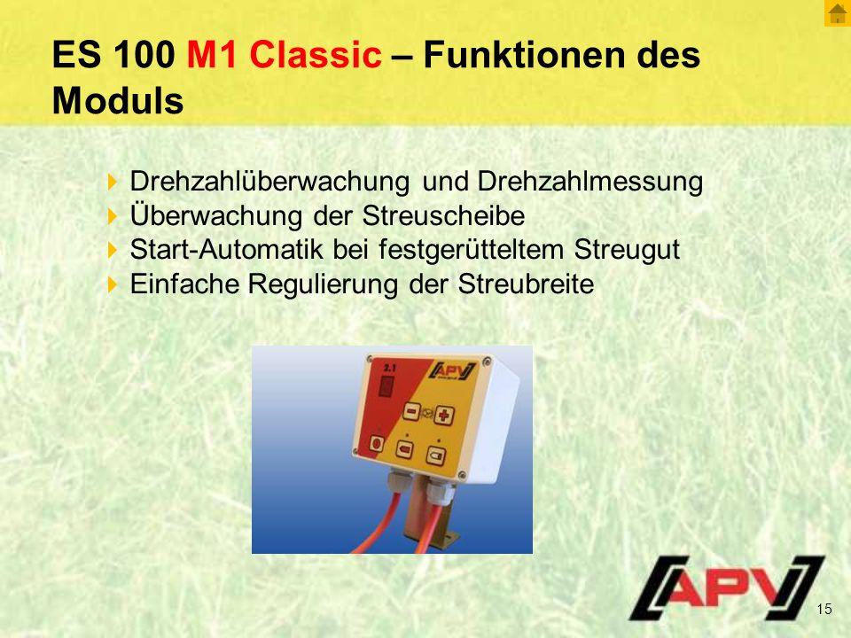 ES 100 M1 Classic – Funktionen des Moduls