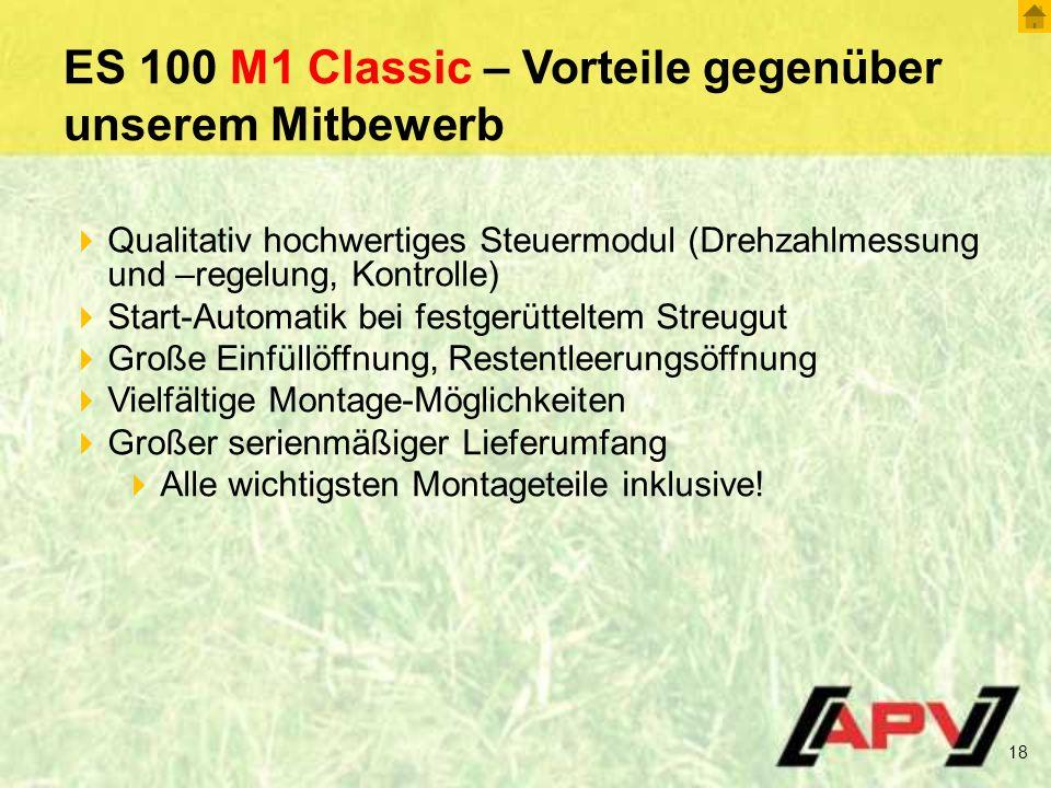 ES 100 M1 Classic – Vorteile gegenüber unserem Mitbewerb