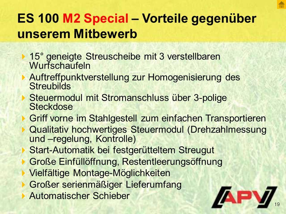 ES 100 M2 Special – Vorteile gegenüber unserem Mitbewerb