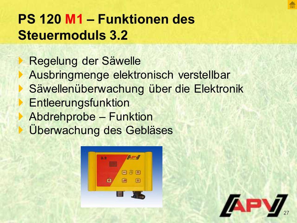 PS 120 M1 – Funktionen des Steuermoduls 3.2