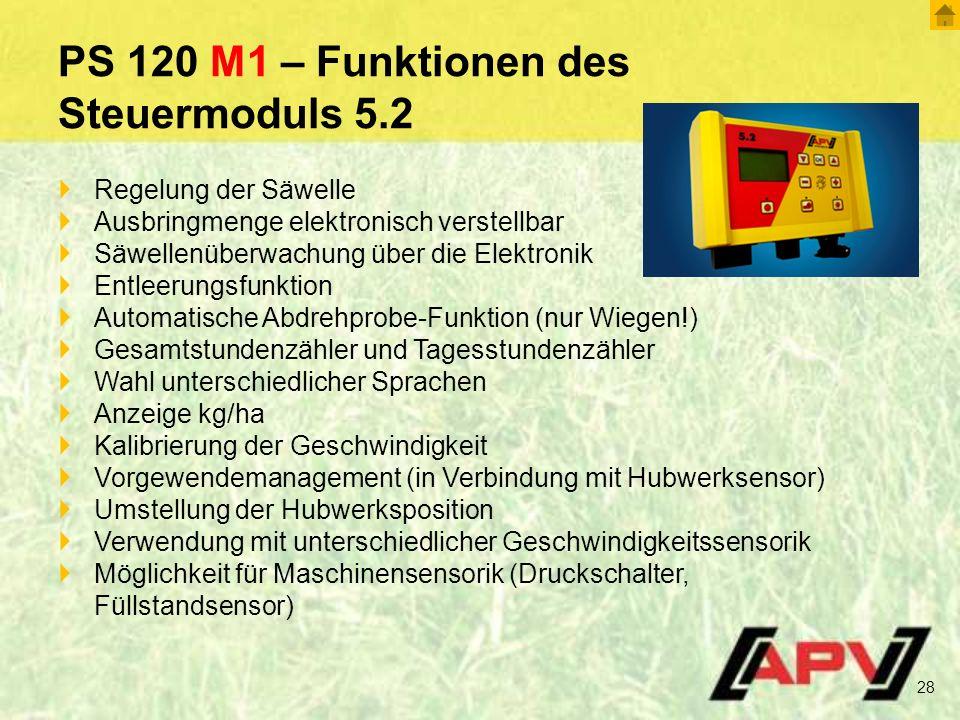 PS 120 M1 – Funktionen des Steuermoduls 5.2