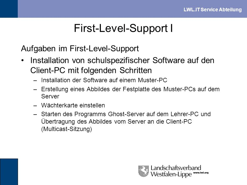 First-Level-Support I