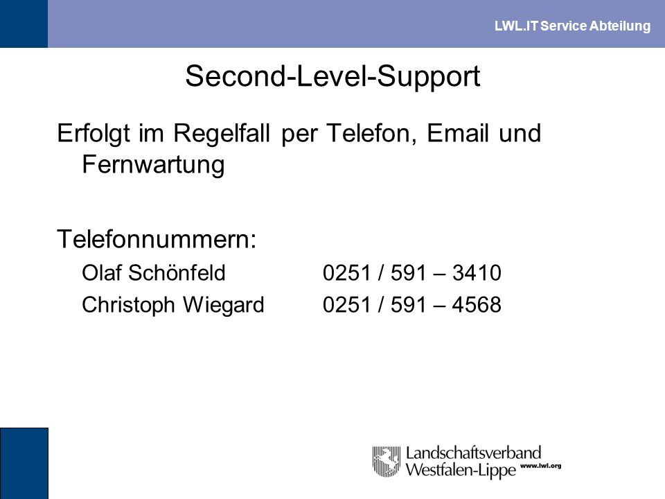 Second-Level-Support