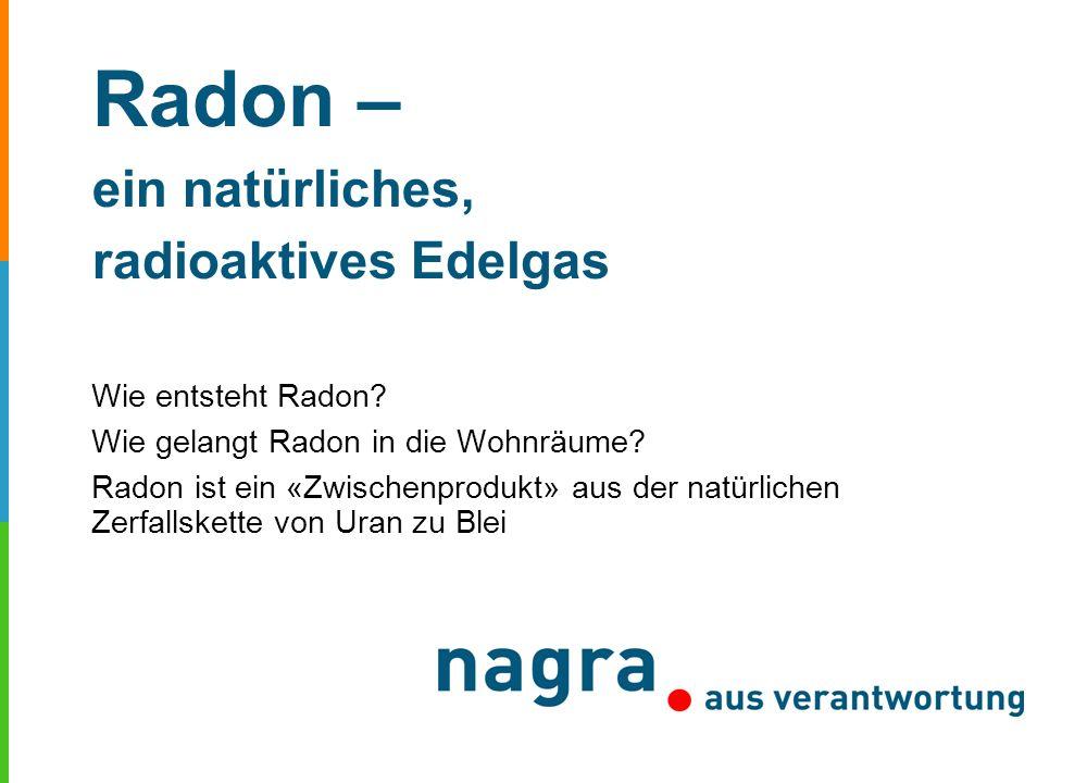 Radon – ein natürliches, radioaktives Edelgas